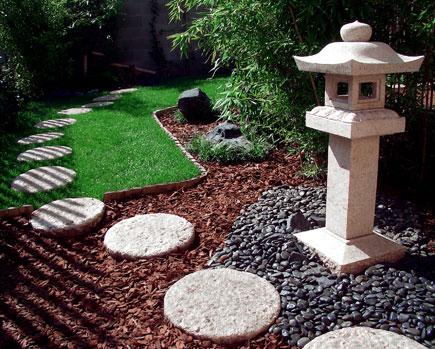 Giardini di sassi bianchi